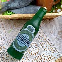 Силиконовая форма 'Бутылочка пива' h 10-1,вес в мыле 90 гр