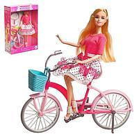 Кукла модель 'Арина' шарнирная, с велосипедом, с аксессуарами