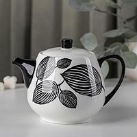 Чайник заварочный 'Гравюра', 700 мл, цвет черный