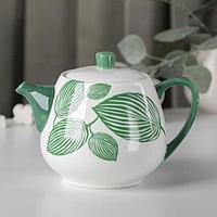 Чайник заварочный 'Гравюра', 700 мл, цвет зеленый