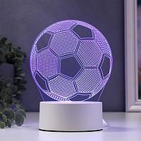 Светильник 'Футбольный мяч' LED RGB от сети 9,5x12,5x16 см