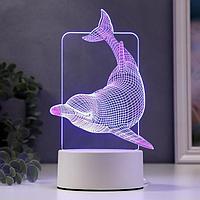 Светильник 'Большой дельфин' LED RGB от сети