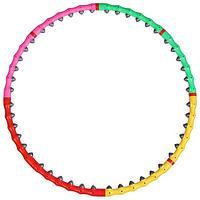 Обруч с резиновыми шипами, разборный, d98 см, 1,2 кг, цвета МИКС
