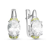 Серьги посеребрение 'Драгоценность' 10-06117, цвет белый в серебре