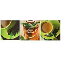 Картина модульная на подрамнике 'Чашка чая' 3шт.-28*28см 28х84см