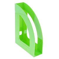 Лоток для бумаг вертикальный, 'Респект', зелёный киви