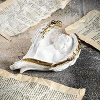 Статуэтка 'Ангел в крыле', золотистый, 9 см