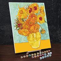 Картина по номерам на холсте с подрамником 'Подсолнухи' Винсент ван Гог 40х50 см