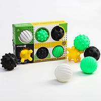 Подарочный набор тактильных развивающих мячиков 'по методике Гленна Домана', 6 шт., цвета/формы МИКС