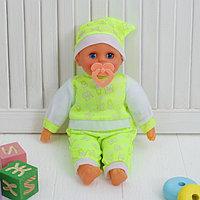 Мягкая игрушка-кукла 'Пупсик', говорящая, 4 звука, с соской, цвета МИКС