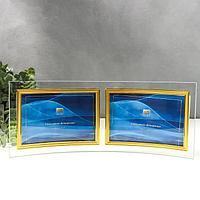 Фоторамка двойная стекло 'GT 214/-G' 10х15 см, горизонталь, золото