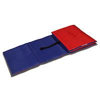 Коврик гимнастический детский 150 x 50 см, толщина 7 мм, цвет синий/красный