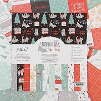 Набор бумаги для скрапбукинга (14 листов) 'Новый кот' 30,5 х 30,5 см, 190гр/м2