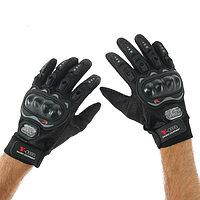 Перчатки для езды на мототехнике, с защитными вставками, пара, размер XL, черные
