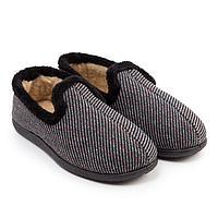 Тапочки мужские, цвет серый, размер 44