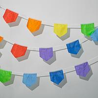 Гирлянда флажная 'Домик' разноцветная, 10 м., расстояние между флажками 15 см