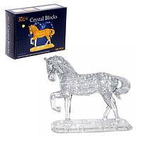 Пазл 3D кристаллический, 'Лошадь' на подставке, 100 деталей, цвета МИКС