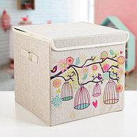 Короб для хранения с крышкой 'Весна', 30x30x28,5 см