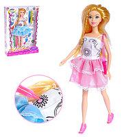 Кукла-модель 'Лиза' в платье для рисования, с аксессуаром, МИКС