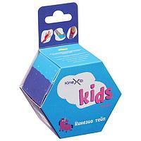 Кинезио тейп Kinexib Classic Kids 4 см х 4 м, цвет фиолетовый, принт единорог