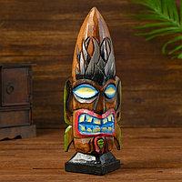 Сувенир интерьерный 'Голова аборигена' дерево 8х8х30 см