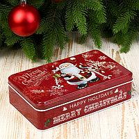 Шкатулка металл 'Дедушка Мороз с посохом леденцом' 5х19,5х11,5 см