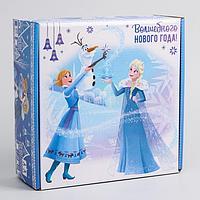 Коробка подарочная складная 'Волшебного нового года', Холодное сердце, 24.5 x 24.5 x 9.5 см