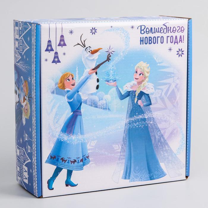 Коробка подарочная складная 'Волшебного нового года', Холодное сердце, 24.5 x 24.5 x 9.5 см - фото 1