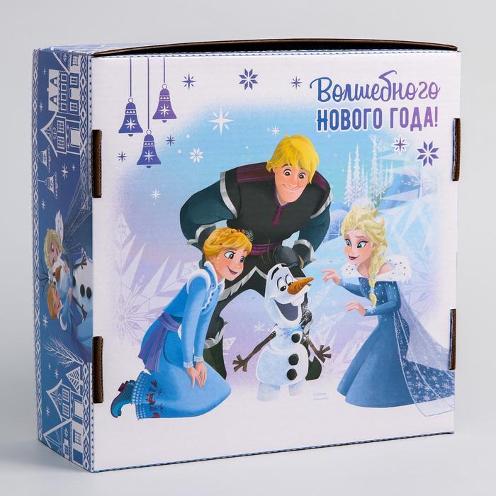 Коробка подарочная складная 'Волшебного нового года', Холодное сердце, 24.5 x 24.5 x 9.5 см - фото 2