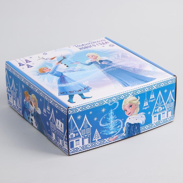 Коробка подарочная складная 'Волшебного нового года', Холодное сердце, 24.5 x 24.5 x 9.5 см - фото 3