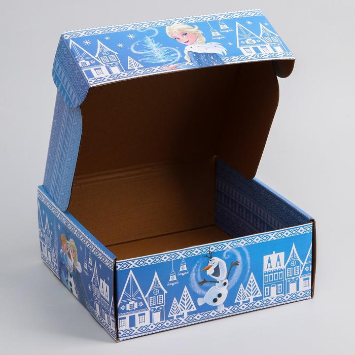 Коробка подарочная складная 'Волшебного нового года', Холодное сердце, 24.5 x 24.5 x 9.5 см - фото 4