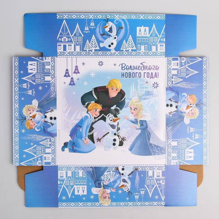 Коробка подарочная складная 'Волшебного нового года', Холодное сердце, 24.5 x 24.5 x 9.5 см - фото 5