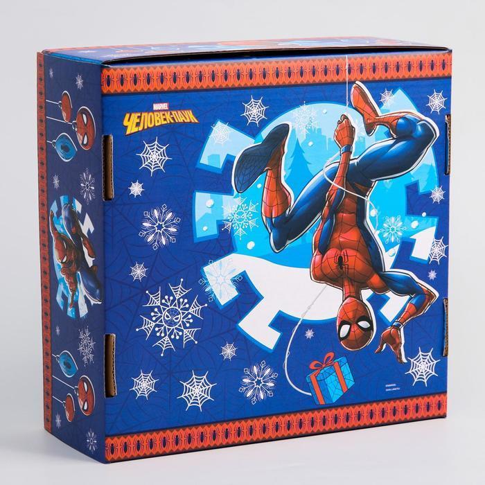 Коробка подарочная складная 'С Новым Годом', Человек-паук, 24.5 x 24.5 x 9.5 см - фото 2