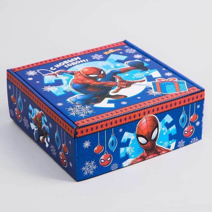 Коробка подарочная складная 'С Новым Годом', Человек-паук, 24.5 x 24.5 x 9.5 см - фото 3