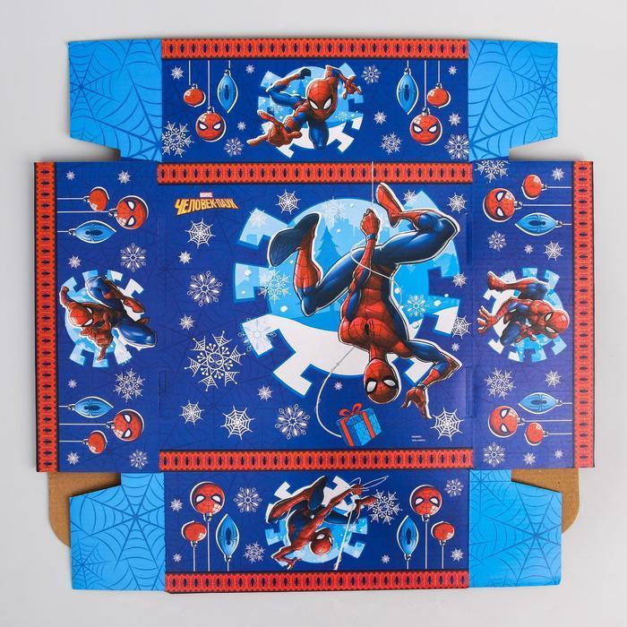 Коробка подарочная складная 'С Новым Годом', Человек-паук, 24.5 x 24.5 x 9.5 см - фото 5