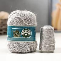 Пряжа 'Mink wool' 90 пух норки,10 полиамид 350м/50гр + нитки (802 св-сер меланж)