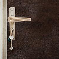 Комплект для обивки дверей 110 x 205 см иск.кожа, поролон 3 мм, гвозди, коричневый, 'Эконом'