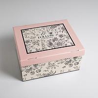 Коробка складная 'Цветы', 31,2 х 25,6 х 16,1 см