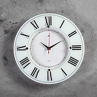 Часы настенные, серия Классика, 'Классика', 34 см стекло, белые Рубин