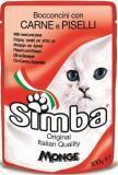 Simba 100г с телятиной и горохом корм для кошек в паучах