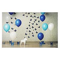 Фотофон винил 'Праздничные воздушные шары и бабочки' стена+пол 80х125 см