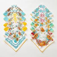 Платки носовые женские Этель 'Цветочный узор' 30*30 см, (набор 12 шт), рис. МИКС,100 хлопок