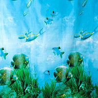Штора для ванной комнаты Доляна 'Рыбки', 180x180 см, EVA
