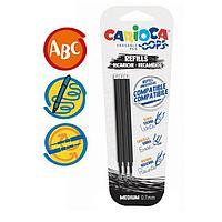 Набор стержней для гелевой ручки 'пиши-стирай' Carioca 'OOPS', чернила черные, 3 шт., 111 мм, 0,7 мм, блистер