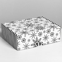 Коробка складная 'Снежная', 30,7 х 22 х 9,5 см