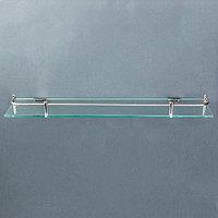 Полка для ванной комнаты, 40x11,5x4 см, металл, стекло