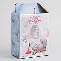 Коробка подарочная складная 'Happy new year', Me To You, 16 х 21 х 10 см
