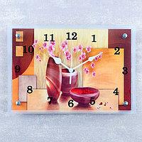 Часы настенные, серия Интерьер, 'Декоративные вазы', 25х35 см, микс
