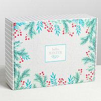 Складная коробка Hello, winter, 30.7 x 22 x 9.5 см