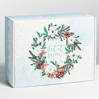 Складная коробка 'Снежной зимы', 30.7 x 22 x 9.5 см